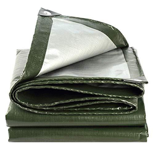 VOPTECH Espesado Exterior de Lona Impermeable - Pesado Lonas - A Prueba de Polvo y Desgaste Rip Prueba Lona (Color: Verde, Tamaño: 5.8x5.8M)