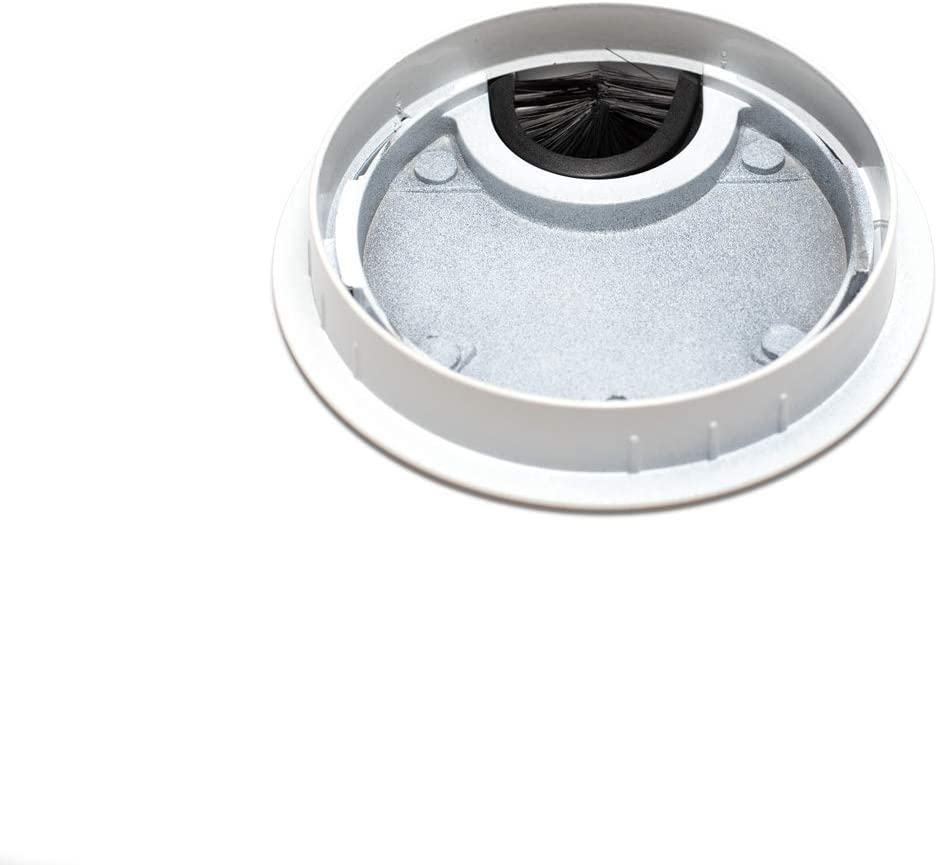 Material: metal Dise/ño: blanco Di/ámetro: 60 mm sossai/® Pasacable redondo//canal de cableado//salida de cables KDM1-WH juego de 2