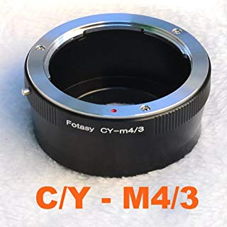 Fotasy Contax/Yashica CY Lens to Micro 4/3 Adapter, fits Olympus E-PL6 E-PL7 E-PL8 OM-D E-M1 I II E-M1X E-M5 I II III E-PM2 E-PM1 Pen-F/Panasonic G7 G9 GF6 GF7 GF8 GH5 GM5 GX7 GX8 GX9 GX85 GX80 GX850
