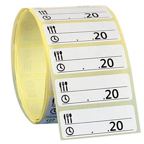 500 Stück Gefrieretiketten selbstklebend ablösbar 50x13 mm Tiefkühletiketten