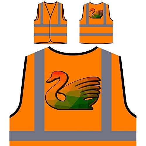 Origami Cygne Triangle Veste de Protection Orange personnalisée à Haute visibilité u552vo