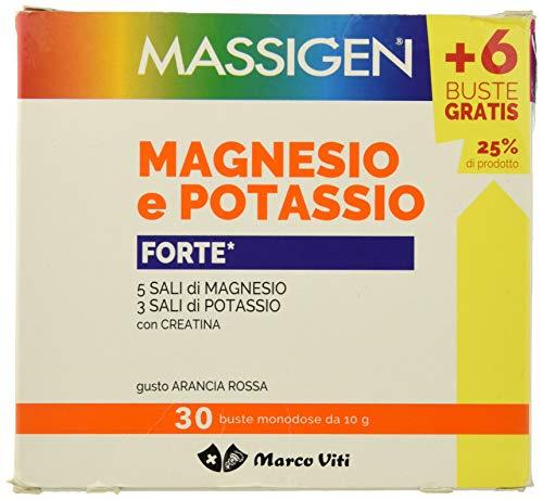 Magnesio e Potassio Integratore 30 Bustine Massigen Forte