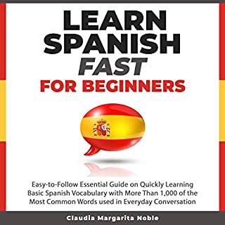 Learn Spanish Fast for Beginners audiobook cover art