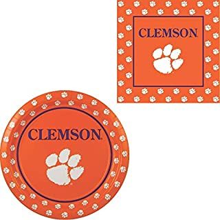 Westrick Clemson Tigers Napkins & Plates - 64 Pieces (Serves 32)