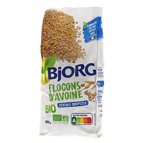 Bjorg Flocons d'Avoine complète Bio - Riche en fibres et magnésium - 900 g