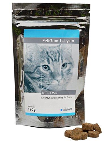 Alfavet FeliGum L-Lysin Weiche Kaudrops mit sehr guter Akzeptanz unterstützend bei Katzenschnupfen.