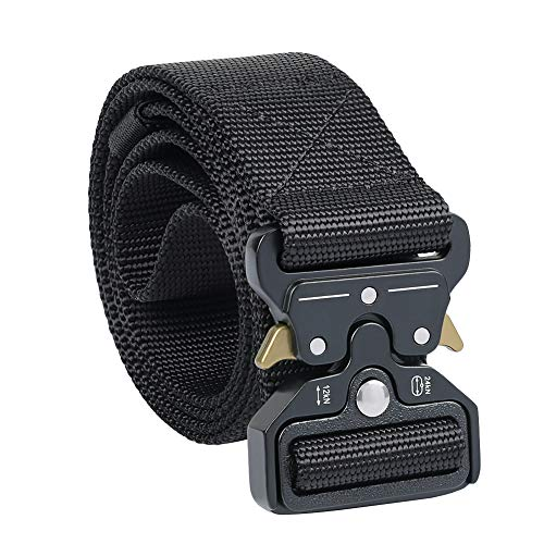 Twod Tactical Webbing Belt Military Style Nylon Belt with Heavy-Duty Quick-Release Buckle -Medium