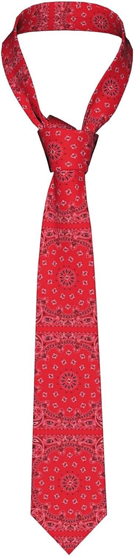 Men'S Necktie Red Paisley Creative Casual Tie Gift Neck Ties
