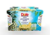 DOLE 100% Pineapple Juice, 6 Ounce Can (Pack of 48)