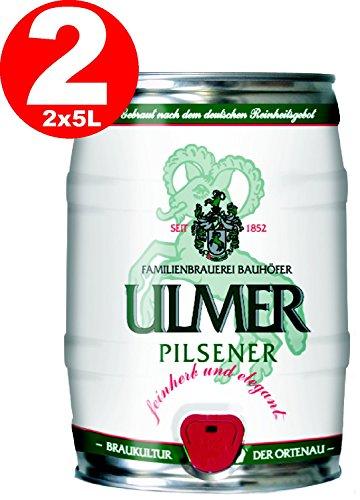2 x Ulmer Pilsner Partyfass 5,0 Liter 5,2% vol.
