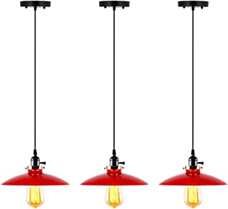 red hanging pendant light