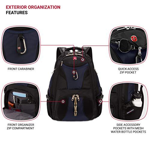 SwissGear 1900 Scansmart TSA Laptop Backpack – Black/Blue