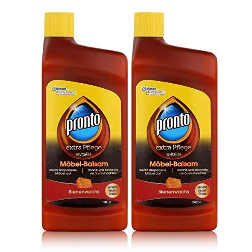 Pronto extra Pflege Möbel-Balsam 250ml - Mit Bienenwachs - Frischt strapazierte Möbel auf (2er Pack)