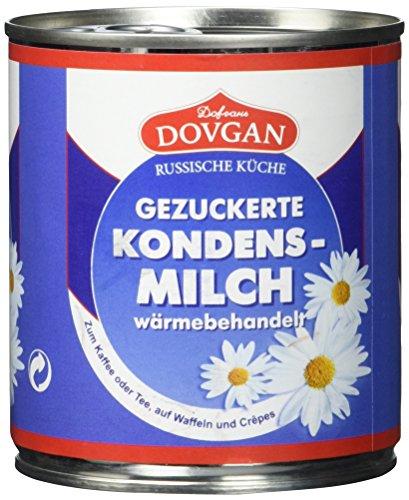 Dovgan Gezuckerte Kondensmilch, 8 prozent Fett, Easy Open (397 g)
