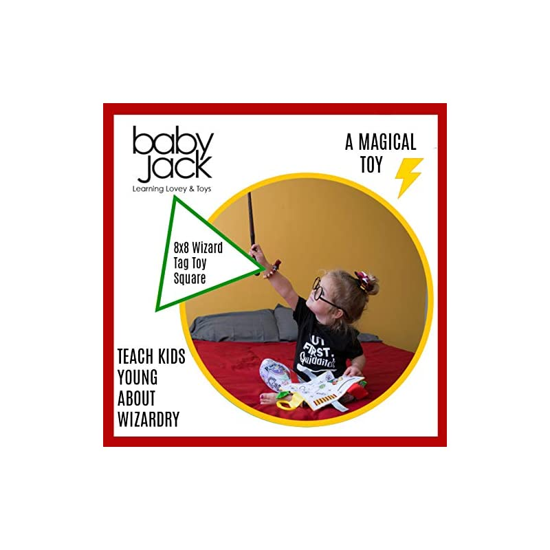 crib bedding and baby bedding lovey chew blanket crinkle toy tag square sensory by baby jack (wizard)