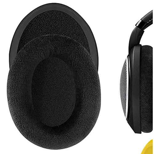 Geekria Comfort Velour Replacement Ear Pads for Sennheiser HD598, HD598SE, HD598CS Headphones Earpads, Headset Ear Cushion Repair Parts (Black)