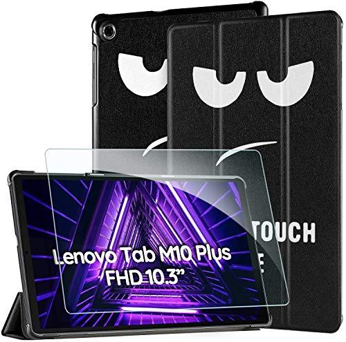 EasyAcc -Custodia Cover Compatibile con Lenovo Tab M10 FHD Plus (2nd Gen) 10.3 Ultrasottile Pellicola Protettiva Slim Smart Case Compatibile con Lenovo Tab M10 Plus TB-X606F TB-X606X,(Don t Touch)