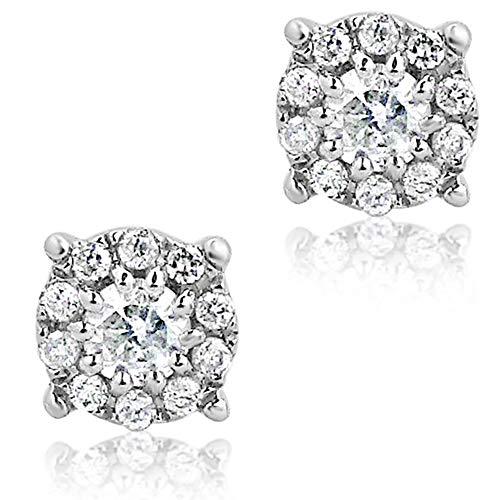 Orecchini Donna Oro e Diamanti Oro Bianco 9Kt 375 Diamanti 0.20ct, Gioiello donna fantasia Clicca su MILLE AMORI blu e scopri tutte le nostre collezioni