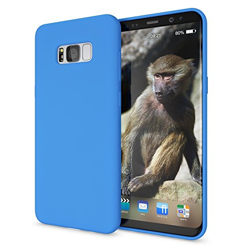NALIA Funda Neon Compatible con Samsung Galaxy S8 Plus, Carcasa Protectora Movil Silicona Ultra-Fina Gel Bumper, Ligera Goma Cubierta Cobertura Delgado Telefono Cover Phone Case, Color:Azul