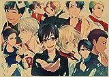 ruyanruomeng Póster Lienzo Pintura Anime Yuri !!!Imágenes De Arte De Pared De Hielo Moderno Sin Marco Decoración del Hogar Impresiones Artísticas Quadro Cuadros K667(40X50Cm)