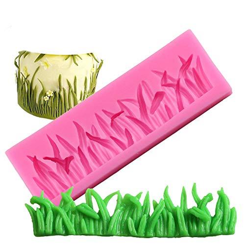 Molde de silicona con diseño de mariposa, para decoración de tartas, silicona, Grass
