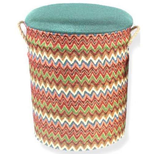 Taburete de metal o cubo de almacenamiento de 44 cm inspirado en Barcelona, cesta para la colada para el hogar, regalo de España