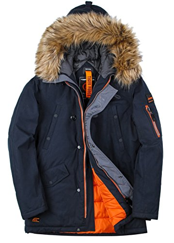 TIGER FORCE Parka Coat Winter Men Thicken Hooded Jacket Quilted Ski Snowjacket Extremely Cold