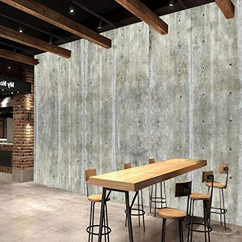 Grote aangepaste behang muurschildering, muur beton muur achtergrond muurschildering 3D behang 280 cm (B) x 180 cm (H)