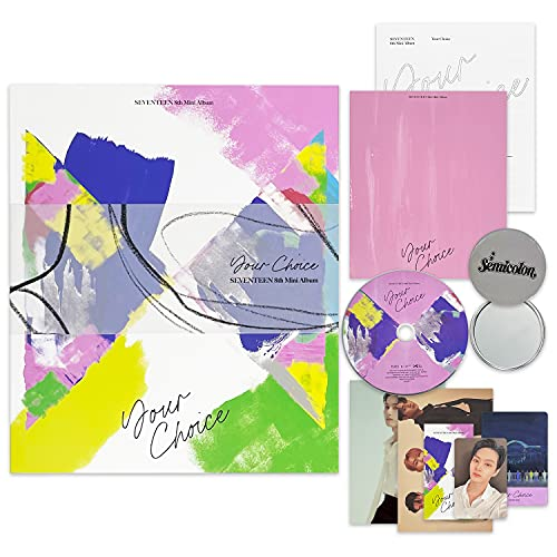 SEVENTEEN 8th Mini Album - Your Choice [ OTHER SIDE Ver. ] CD-R + Photobook + Lyric Book + Postcard + Unit Card + Photocard + Sticker + Bookmark + OFFICIAL POSTER