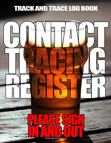 Track and Trace log book for pubs and bars: A register to collect contact details for your customers