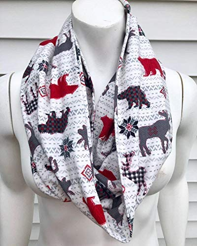 Very popular Moose Checked Animal Scarf Stripe Japan's largest assortment