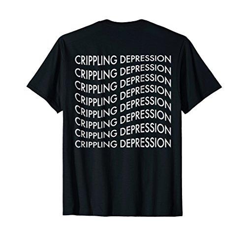 Vaporwave Sadboys Meme 'Crippling Depression' T-Shirt