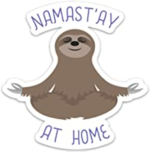 Sloth Sticker Decal Meditating Namaste at Home 4