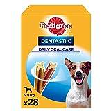 Pedigree Dentastix de uso diario para higiene oral para perros pequeños - Pack de 4 x 28 sticks - Total 112 sticks