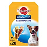 Pedigree Dentastix de uso diario para higiene oral para perros pequeños, 28 sticks