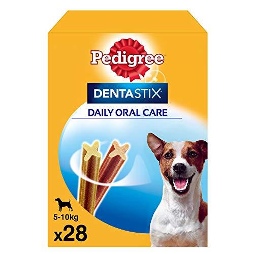 Pedigree Dentastix Snack Dental para la Higiene Oral de Perros Pequeños (4 paquetes de 28ud)