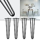 Patas horquilla mesa set 4 negro 30cm Hairpin Legs diseño industrial vntage retro tendencia muebles
