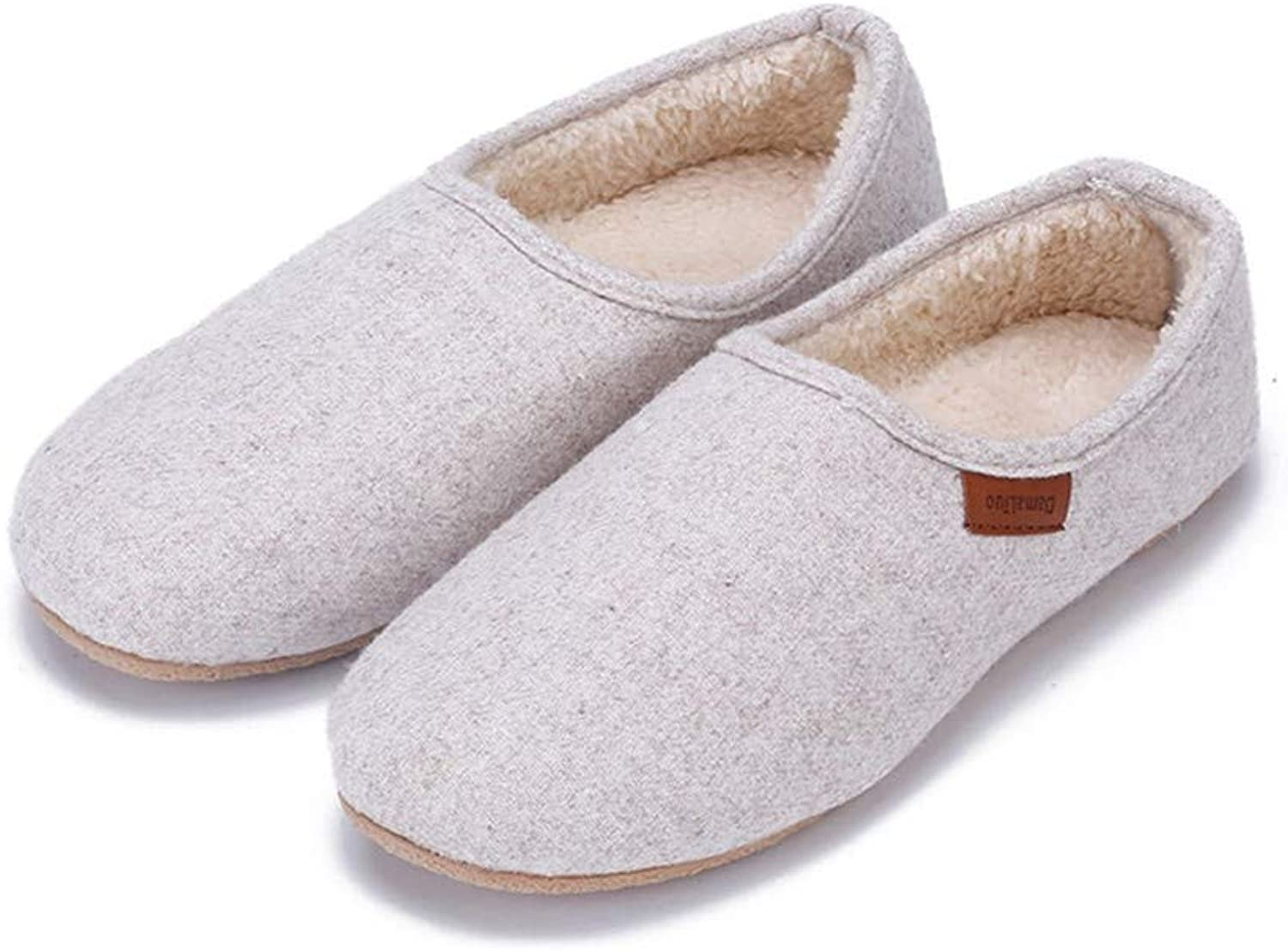 AILIUJUNBING Autumn and Winter Bag with Cotton Slippers Female Thickening feet Mute Non-Slip Waterproof shoes Home shoes Women Indoor Slippers Cozy Pretty
