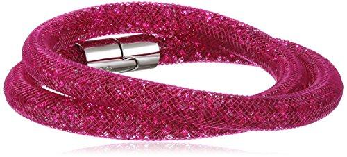 Swarovski Damen-Armband Edelstahl Kunststoff Glas pink 40 cm - 5089833