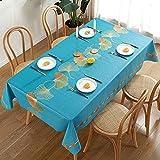 Mantel de Mesa Impermeable con Estampado Floral Moderno Decoración de Boda Mesa de Comedor Rectangular Cubierta Mantel Antimanchas 140x220cm 06