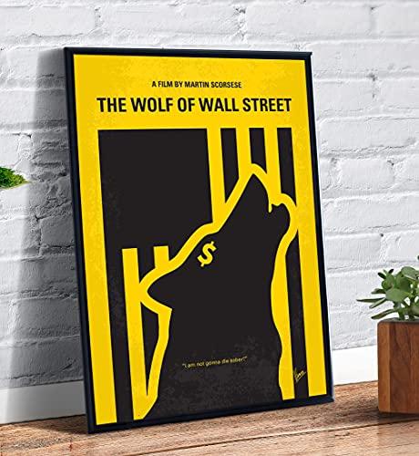 Quadro decorativo emoldurado O Lobo De Wall Street Minimalista