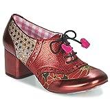 Irregular Choice Clara Bow Derby & Richelieu Chaussures pour femme Bordeaux/Gold Richelieu - - Or bordeaux., 39 EU