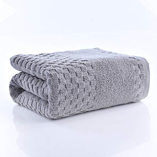 DSJDSFH badhanddoek van katoen, eenvoudig, comfortabel, 70 x 140 cm, grote badhanddoek, vierkant, dik, voor volwassenen, badhanddoek