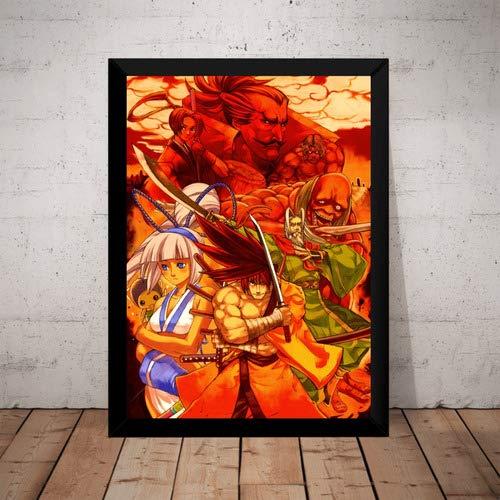 Quadro Samurai Shodown Game Arte Poster Moldurado
