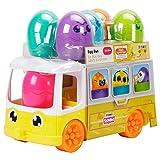 TOMY- Toomies Hide and Squeak Egg Bus Baby Toy Trieur de Formes éducatif avec Couleurs et Sons, Pâques, Jouet à Pousser pour Les Tout-Petits, Bébés âgés de 1, 2 et 3 Ans, E73098, Multicouleur