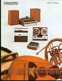 Concord Electronics sales catalog 1970