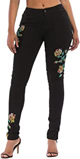 Pants for Women Comfy Casual High Waisted Jeans Denim Pants Stretch Pants Sexy Ripped Pencil Pants