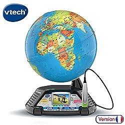 Vtech  80-605465 Interaktiver Videoglobus, Lernglobus, Normalverpackung, Mehrfarbig, Französische Version