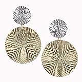 Mode exagérée pendentif taille disque cercle boucles d'oreilles tempérament féminin personnalité couleur correspondant bosse oreille stud bijoux d'oreille