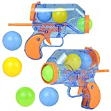 ArtCreativity 5 Inch Ball Launchers, Set of 2, Each Set with 1 Toy Blaster Gun and 5 Plastic Balls, Cool Shooting Toys for Kids, Fun Toys for Outdoors, Indoors, Yard, Camping, Best Birthday Gift Idea